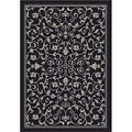 Safavieh Indoor/ Outdoor Resorts Black/ Sand Rug (2'7 x 5')