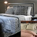 Tuscan Reversible Paisley/Stripe Cotton 3-piece Duvet Cover Set