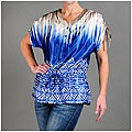 Kaelyn Max Women's Blue Tie-dye Print Top