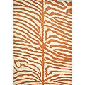 Hand-tufted Safari Orange Wool Rug (5' x 8')