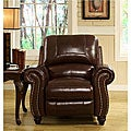 Abbyson Living Madison Premium Top-grain Leather Pushback Recliner