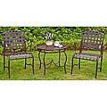 Santa Fe &#39;Nailhead&#39; 3-piece Iron Bistro Set