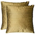 Duponi Silk Square Decorative Pillows (Set of 2)