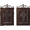 Set of 2 Iron Scottish Decorative Wall Crosses