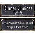 Set of 2 Americana Mom&#39;s Words of Wisdom Signs