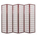 Oriental Shoji Cherry 6-panel Room Divider Screen