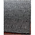 Handmade South Hampton Southwest Black Rug (4' x 6')