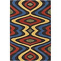 Hand-tufted Mandara Multicolor Wool Rug (5&#39; x 7&#39;6)