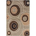 Taupe Napier Abstract Rug (7'6 x 10'6)