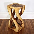 Hand-carved Wooden Vine Twist Stool (Thailand)