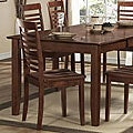 ETHAN HOME Moulins Asian Wood Dark Brown Dining Chairs (Set of 2)