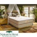 Nature's Rest by Spring Air Solitude Plush Zoned Latex Foam Queen-size Mattress Set