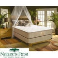 Nature&#39;s Rest by Spring Air Solitude Plush Zoned Latex Foam King-size Mattress Set