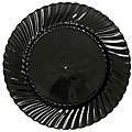 WNA Comet EarthSense 6-in Black Plastic Plates (Case of 180)
