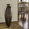 Antique Gold Floor Urn Vase (Indonesia)