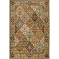 Loomed Free-form Sage Geometric Rug (5&#39;3 x 7&#39;6)