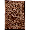 Hand-tufted Rusty Brown Oriental Wool Rug (9' x 13')