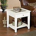 Quincy White End Display Table