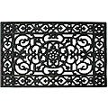 Renaissance Rectangle Square Grid Rubber Door Mat (22x34)