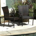 Christopher Knight Home Outdoor PE Wicker Brown Stackable Club Chairs (Set of 2)