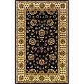 Hand-tufted Black/ Beige Wool Area Rug (3'6 x 5'6)