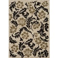 Dream Ivory Leaves Rug (5&#39;3 x 7&#39;6)