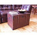 Georgetown Faux Leather Large Wooden Chest