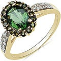 Malaika 10k Yellow Gold Green Tourmaline and Diamond Accent Ring