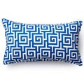 Jiti Pillows Blue Puzzle Outdoor Throw Pillow