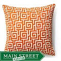 Jiti Pillows 20x20-inch Orange Puzzle Outdoor Decorative Pillow