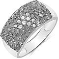 Malaika Sterling Silver 1 1/5ct TDW Diamond Ring (I-J, I2-I3)