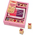 Melissa & Doug Butterfly and Hearts Stamp Set