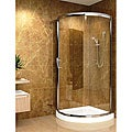 Aston 36x36-inch 5mm Round Clear Glass Shower Enclosure/ Base
