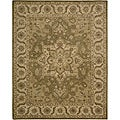 Hand-tufted Caspian Green Wool Rug (2'6 x 4')