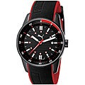 PUMA Gents 'Top Race' Black Red Analog Watch