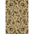 Infinity Collection Ivory/ Beige Rug (7&#39;10 x 10&#39;3)