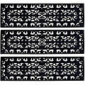 Fleur Di Lys Step Mat Recycled Rubber Doormat (Set of Three)