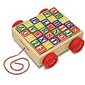 Melissa &amp; Doug Classic ABC Block Cart Toy