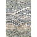 Alliyah Handmade Grey/Green New Zealand Blend Wool Rug (9' x 12')
