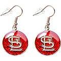 Aminco International St. Louis Cardinals Glitter Charm Dangle Earrings Set
