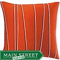 Jiti Pillows Diagonal-stripe-motif Orange Decorative Throw Pillow