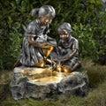 Fratelli Siblings LED Back-Lit Rock Water Fountain