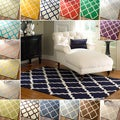 Hand-Hooked Alexa Moroccan Trellis Petit-Point Wool Rug (8'6
