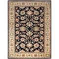 Hand-tufted Black Wool Area Rug (10&#39; x 14&#39;)