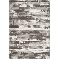 Meticulously Woven Black Streyay Abstract Rug (7'10 x 10')
