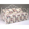 Bernards Antique White Day Bed