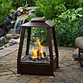 Real Flame &#39;Sierra&#39; Copper Finish Fireplace