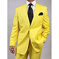 Ferrecci's Men's Yellow Two-Piece Two-Button Suit
