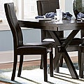 ETHAN HOME Dartford Espresso Contoured Dining Chair (Set of 2)