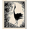 Inkadinkado &#39;Crane Print&#39; Wood-mounted Rubber Stamp